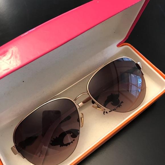55dd01dfdd6 Kate Spade Marion Aviator Sunglasses